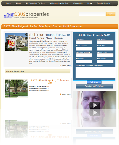 Real Estate WordPress theme design for CBUS Properties