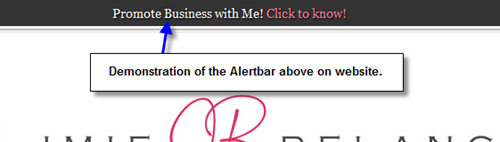 Add alert bar at top of Blog in Thesis Theme