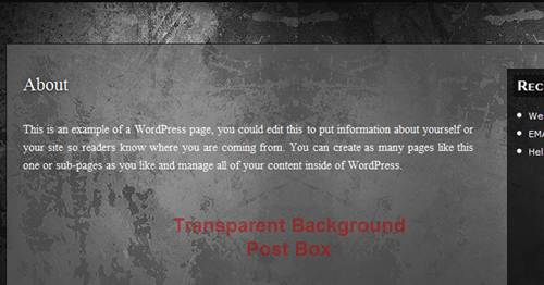 Transparent background post box