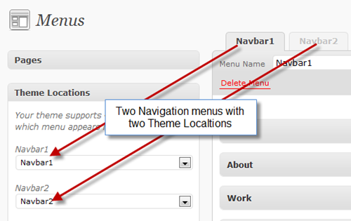 step2-Multiple Navigation menus using WordPress
