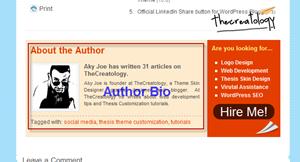 Author Bio example TheCreatology