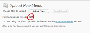 Increase upload media file size limit in WordPress
