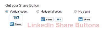 Official LinkedIn Share button for WordPress Blog