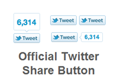 Official Twitter Button Count