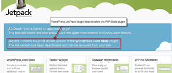 WordPress jectpack plugin installation