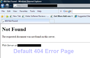 default 404 error page from server