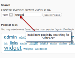 step1- searchl-jetpack-plugin-on-wordpress