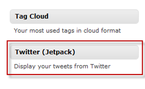 Jetpack Twitter Stream Widget for Sidebar
