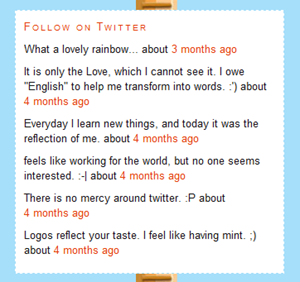 Twitter Stream in wordpress sidebar