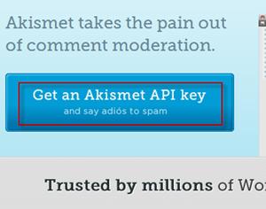 Get Akismet API key