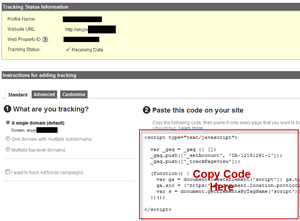 Get Google Analytics Code for website