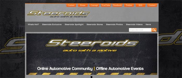 Auto Blog Website Designed for Steeroids using Thesis Theme on WordPress