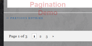pagination demo screenshot