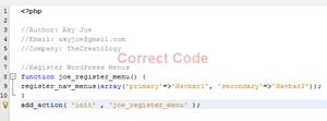 Correct PHP Code