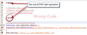 Wrong PHP Code