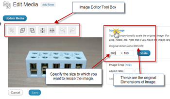 Resize Image using WordPress Editor