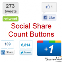 How to add Social Media Share Count Buttons in WordPress Blog ?