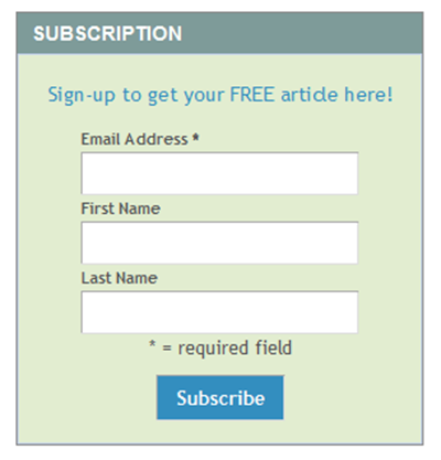 MailChimp Form Sidebar WordPress