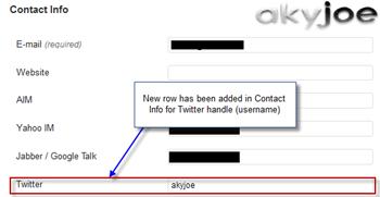extend wordpress contact option twitter