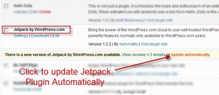 Update Jetpack Plugin step1