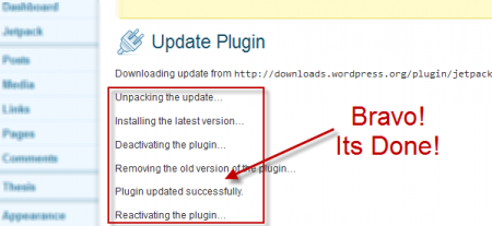Update Jetpack Plugin step2