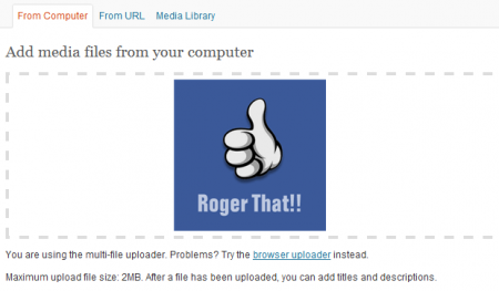 WordPress Media Upload Box