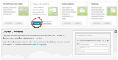 JetPack Plugin update for New Commenting System