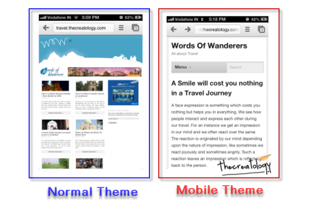 JetPack Mobile Theme Update Difference