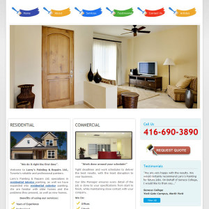 Paint Business Website Design