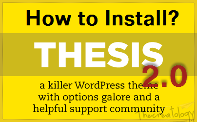 How to Install Thesis 2 on WordPress