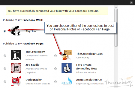 Publicize on Facebook using Jetpack 2 450x295 No Post Sharing Hassle Now as Jetpack Plugin 2.0 Updates