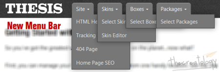 New Thesis 2 Menu Bar 450x147 Hands on Thesis 2: Head Editor, Skin Editor, Boxes & Packages