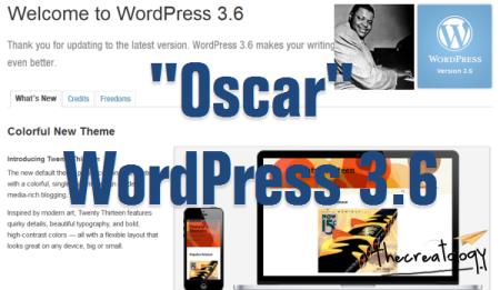 Oscar WordPress 3.6 Version